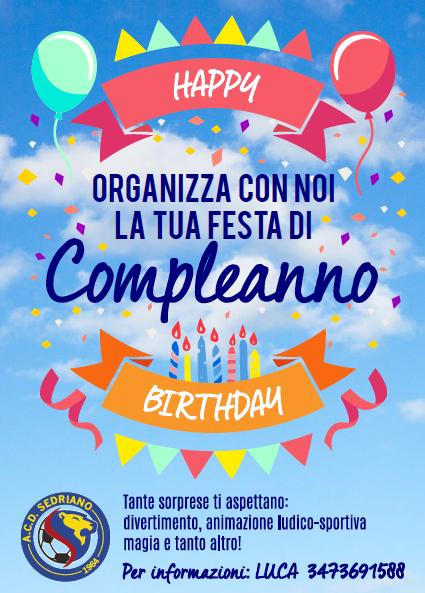 Festeggia da noi il tuo compleanno!